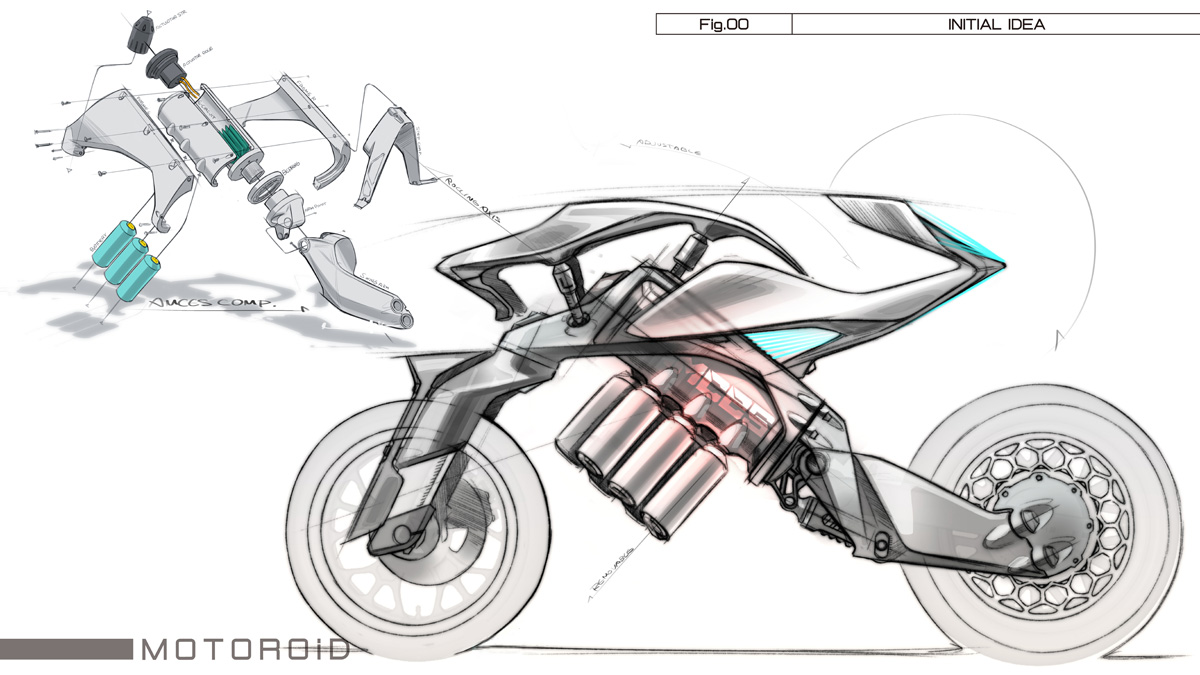 motoroid leaning electric motorcycle by yamaha