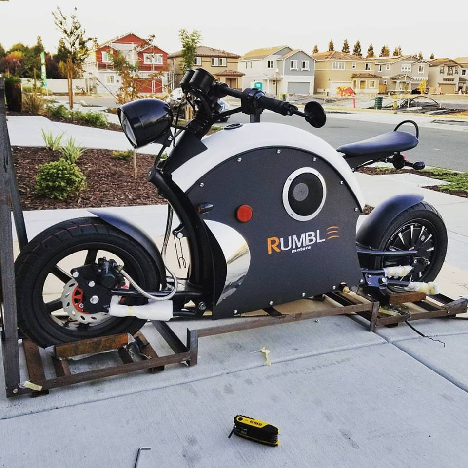 Rumble Motors Cafe Racer Inspired Electric Motorcycle