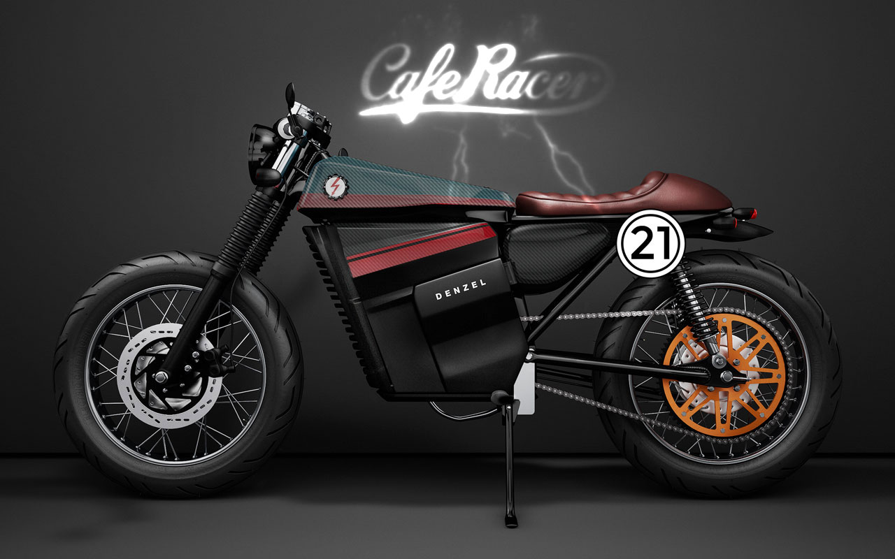 Electric Cafe Racer By Denzel