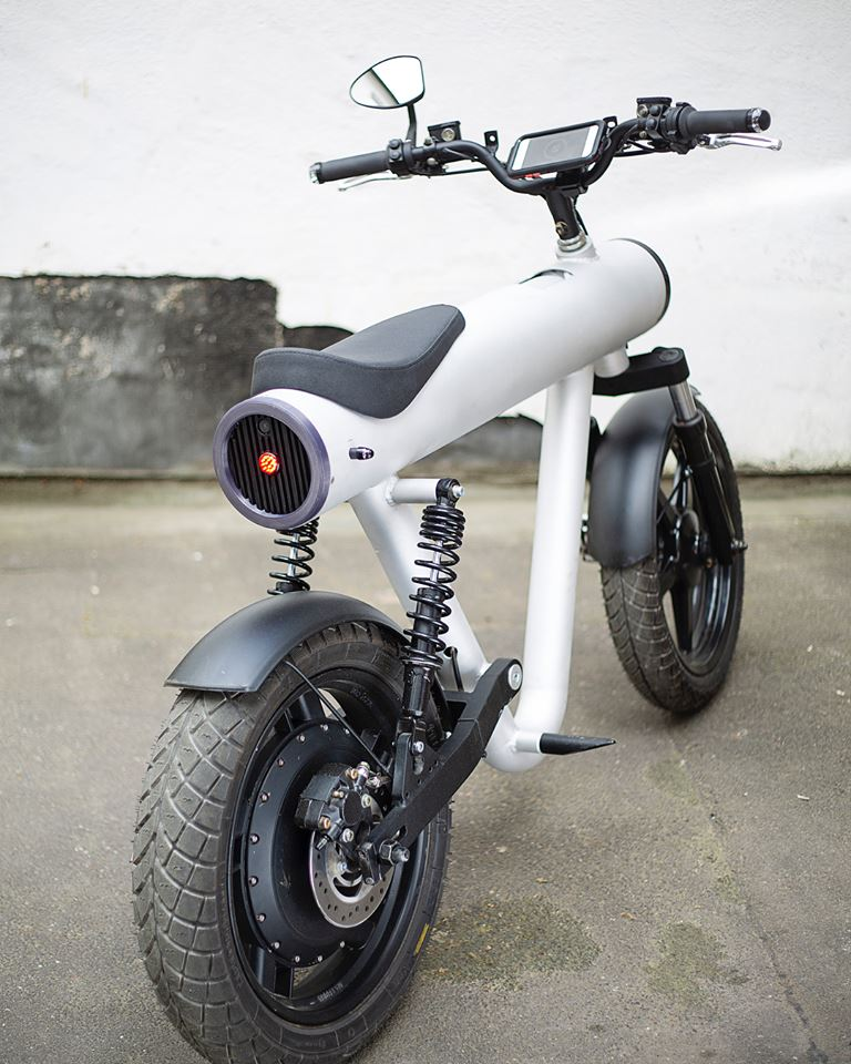 Electric Motorcycle Pocket Rocket By Sol Motors From