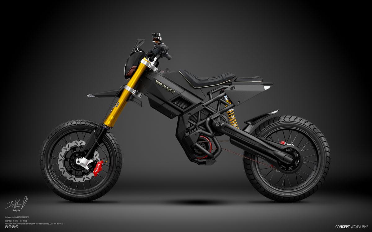 WAYRA Electric Motorbike Vision from Designer Pablo Baranoff Dorn