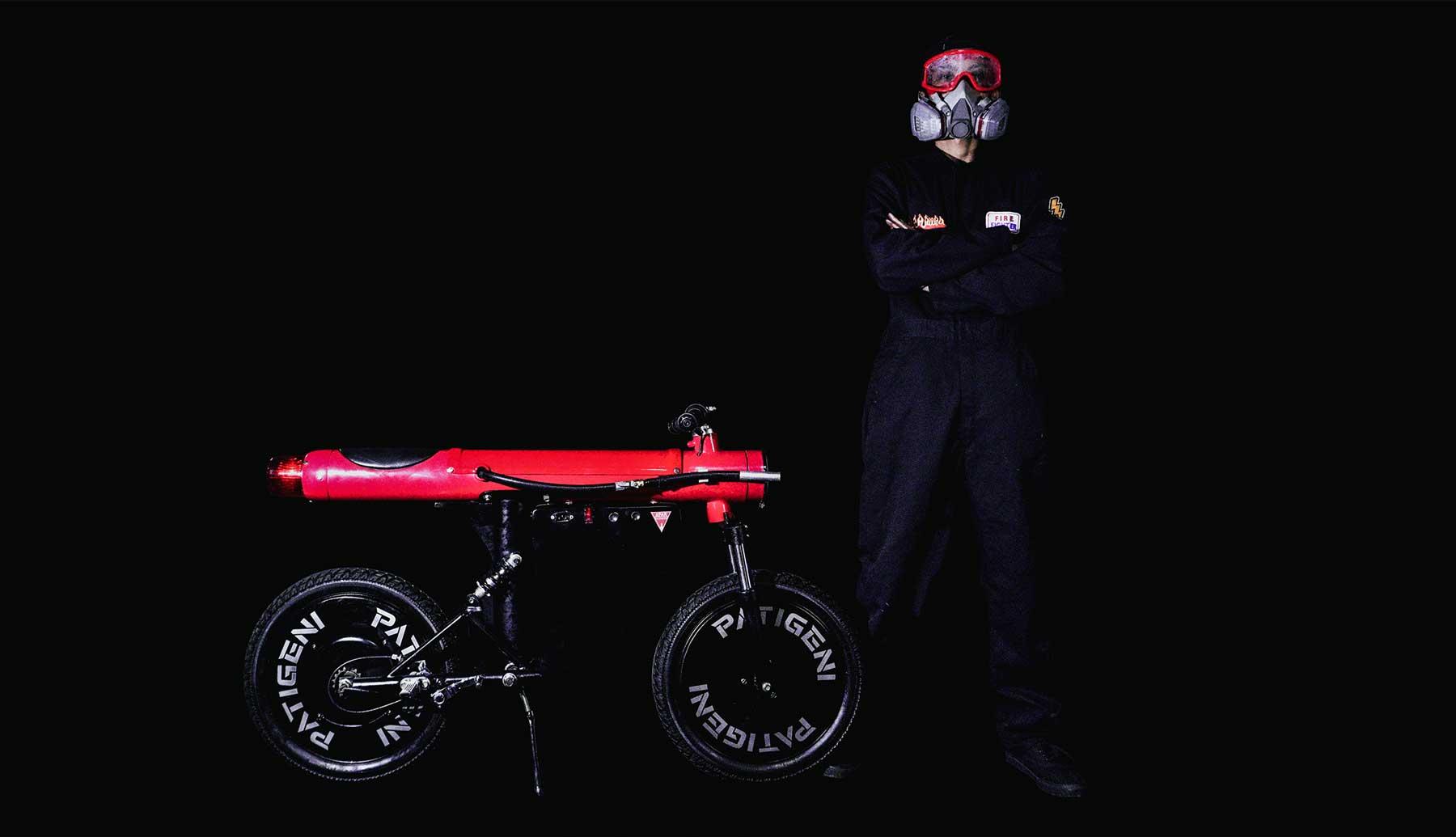 Insane Firefighting Custom Electric Moped