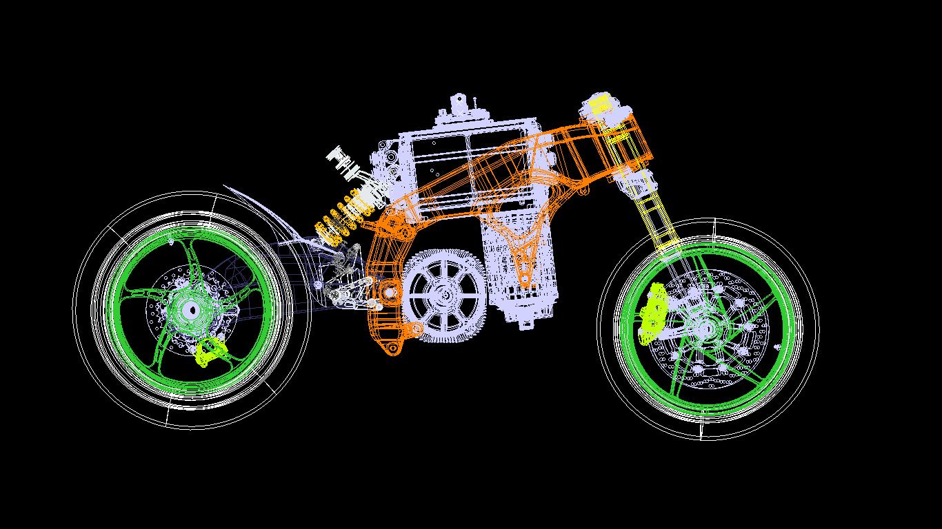 One man one-off designed E-motorbike